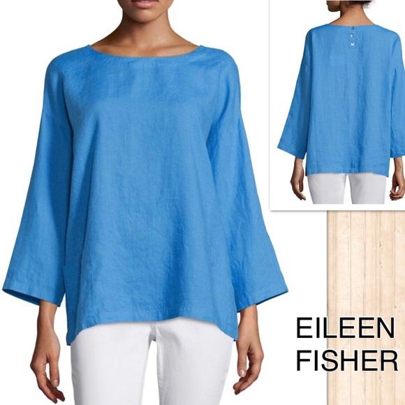 21f06b97c9d Eileen Fisher Tops - Eileen Fisher Organic Linen Tunic w/ Pockets
